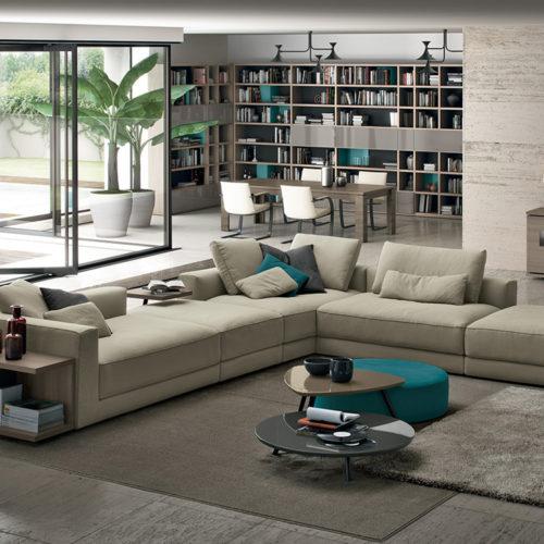 Kermesse camoscio divano Febal Salento