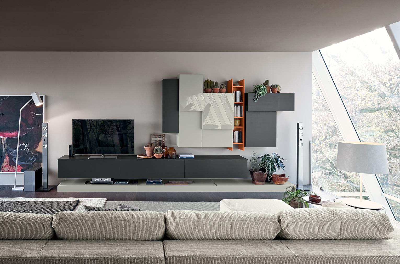 live contemporary soggiorno febal lecce - febal casa lecce - Soggiorno Moderno Febal 2