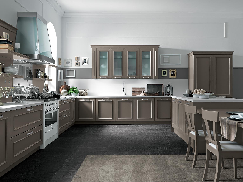 Romantica cucina cappuccino Febal Lecce - Febal Casa Lecce