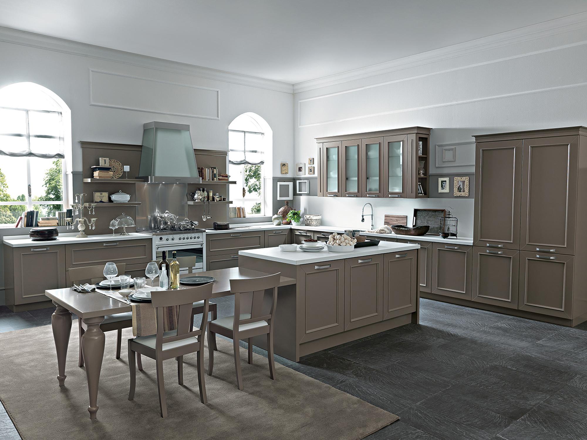 Romantica cucina cappuccino febal lecce febal casa lecce - Cucine classiche febal ...