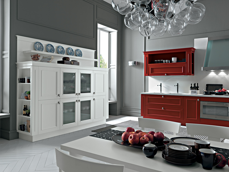 Romantica cucina rosso veneziano Febal Lecce - Febal Casa Lecce