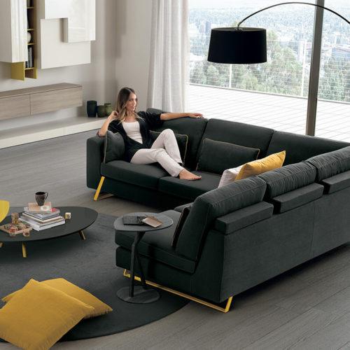 Tenore acciaio divano Febal Salento