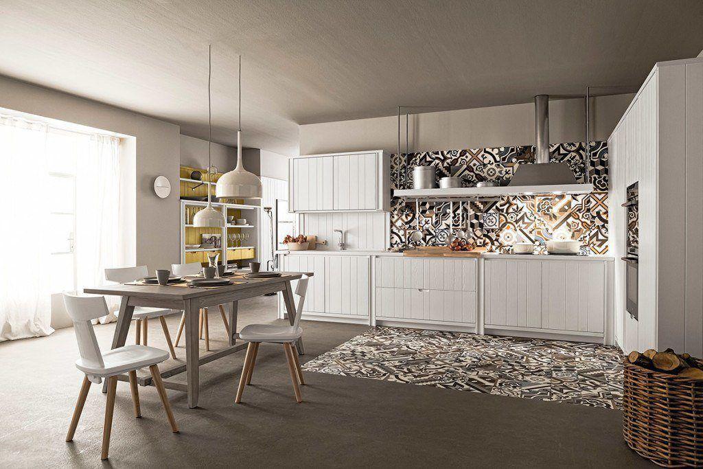 Cucina bianca maestrale m04 abitare pesolino lecce - Cucina classica bianca ...