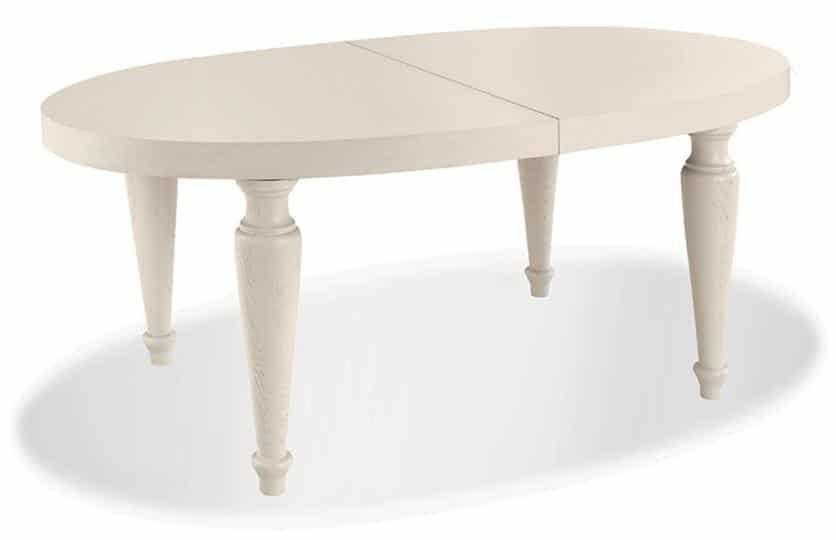 Gambe Tornite In Legno Per Tavoli.Tavolo Ovale Allungabile Akan Igi Piano Impiallacciato Giro