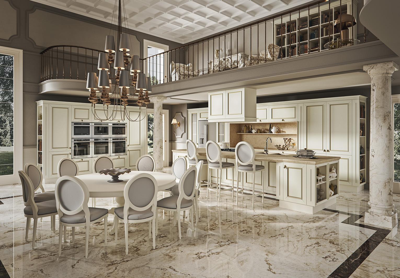 Gold Edition cucina rovere bianco Febal Salento - Febal Casa Lecce