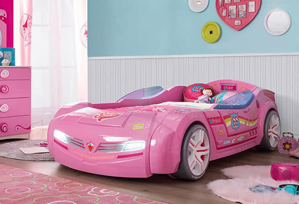 auto bambine macchina lettino