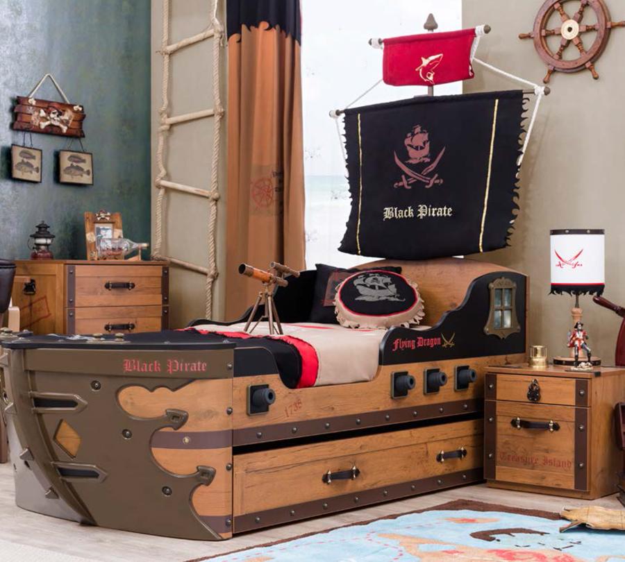 lettino pirati